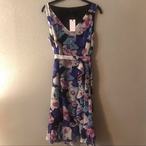 Liza Luxe floral flouncy dress NWT